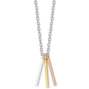 Unwritten Triple Bar Pendant Necklace NWT